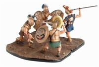 DRAGON 1/24 SCALE GREEK TROJAN ACHILLES HECTOR AJAX 4 TOY SOLDIERS FREE SHIP
