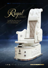 LUX ROYAL Luxury High Back Pedicure Nail Spa Chair + Premium Package + from USA