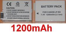 Batería 1200mAh tipo LPE8 LP-E8 NB-E8 4515B002AA Para Canon EOS 550D
