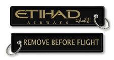 ETIHAD AIRLINES-Remove Before Flight Keyrings X2