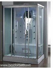 Two  Person Steam Shower Cabin ,Aromatherapy, Bluetooth,6 Year US Warranty