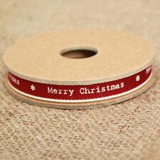 East of India 'Joyeux Noël's ruban rouge blanc bordure étroite 3 M Artisanat de Noël