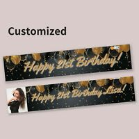 Party Balloons  Happy Birthday 21st 30th Gift Personalised Banner Decorations