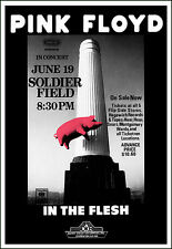 PINK FLOYD 1977  Chicago Soldier Field Concert Poster