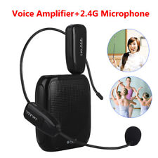 Portable Voice Amplifier for Teaching Guiding Speaker + 2.4G Headset Microphone