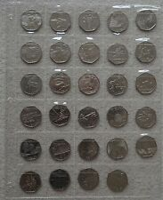 LONDON 2012 OLYMPICS FULL SET - 50p Complete Collection of 29