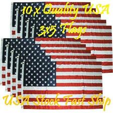 Usa Flag 10 Flags 3x5 ft Usa Us American Flag Stars Grommets United States