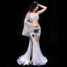 New Women 2018 Professional Belly Dance Costumes Performance 2pcs Bra&Long Skirt