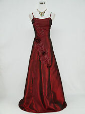 Cherlone Plus Size Red Ballgown Bridesmaid Wedding Full Length Evening Dress 22