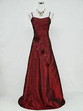 Cherlone Red Nero Damigella D'OnOre Matrimonio Formale piena lunghezza abito da sera 12-14
