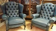 Chesterfield Queen Anne Style Armchairs