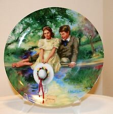 """Tom and Becky"" Tom Sawyer Knowles Plate William Chambers with COA"