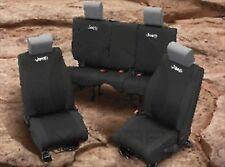 2013-2017 Jeep Wrangler Black FRONT REAR Seat Covers MOPAR GENUINE OEM BRAND NEW