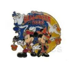 TDL- HALLOWEEN 2006 MICKEY & MINNIE MOUSE DISNEY Pin 49433