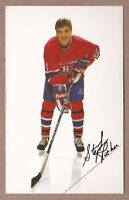 Stephane Richer Pre-Rookie PRC 1985/ '86 Montreal Canadiens Team Issue Post Card