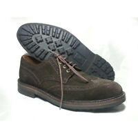Polo Ralph Lauren Men Size 8.5 Shoes Brown Suede NORBECK Wingtip toe Lug Sole