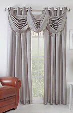 """Stylemaster Chelsea Faux Silk Window Grommet Panel, 56"""" X 84"""", Silver Color"""