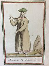 Jacques GRASSET DE SAINT-SAUVEUR (1757-1810) Femme Russe Russie J Larogue 1796