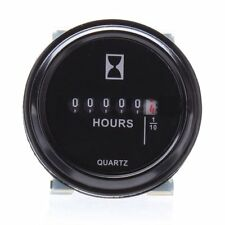 """12V 24V 36V Waterproof Hour Meter Panel for Car Marine Engine 2"""" Round Gauge"""