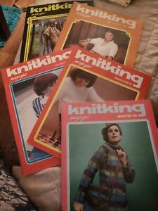 LOT OF 5 KNITKING MAGAZINES 1976 KNITTING VINTAGE