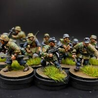 Painted 28mm Bolt Action german lufftwaffe field division squad #1 ×10 men Ww2