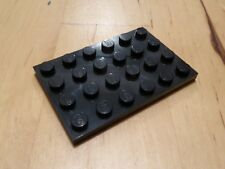 Lego 4x6 plate in Black - pack of 8 (3032) - NEW - city/star wars/marvel