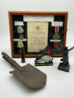 Stalingrad Collectables Including 1943 Russian Anti-Tank Shell, Medals + More