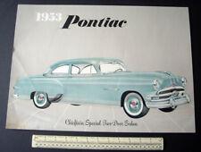 1953 Pontiac Chieftain SPECIALE 2-PORTE BERLINA. DEALER DISPLAY A MURO-ORIGINALE
