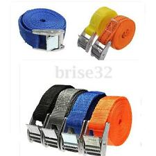 PACK CAM TIE DOWN STRAPS CARGO LASH LUGGAGE NYLON BAG BELT METAL BUCKLE 250CM
