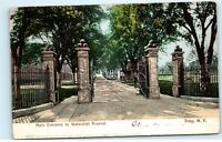 Soldiers Main Gate Watervliet Arsenal Troy NY New York Vintage Postcard B12
