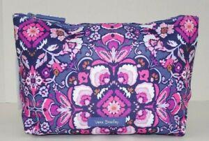 Vera Bradley Lighten Up Large Cosmetic Bag MAGENTA MEDALLION Travel Zip Case NWT