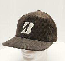 7199f48f9a7 Vintage Bridgestone Corduroy Snapback Hat Cap Brown Swingster Made in USA