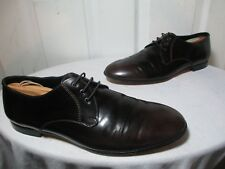 BURBERRY PRORSUM POLISHED BROWN LEATHER DERBY SHOES EU 42½ US 9.5  MADE IN ITALY
