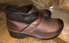 New~Dansko Professional Burnished Leather Clogs~Brown~ 36 ~ 5.5  6