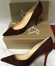 NIB Authentic Christian Louboutin Apostrophy 85  Suede Heels Shoes 39.5   $675