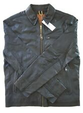 TIMBERLAND MOUNT MAJOR GOAT LEATHER BOMBER JACKET BLACK NEW CLASSIC MEN'S MEDIUM