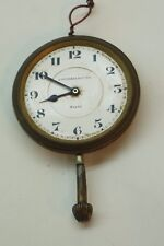 ANTIQUE CAR CLOCK POCKET WATCH STOWELL OCTIDI 8 DAY SWISS 6J 2.5in DIA WORKS