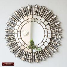 New Silver Sunburst Mirror Cuzco style 'Silver Princess Sun'-Handmade Wall Decor