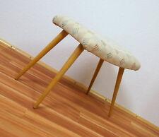 Età in legno sgabello sedia sgabello Schemel NUOVO imbottito vintage 50er 60er J.