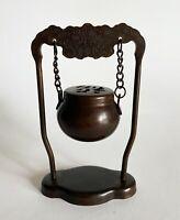 Japanese Antique Hanging KORO Incense Burner FORTUNE  design (b253)サ