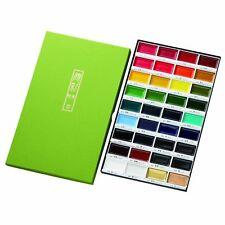 Kuretake Gansai Tambi Japanese Traditional Solid Water Colors 36 Color Set