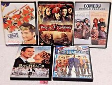 #24 Lot 5 DVD*Animal House*Pirates Of Caribbean*Night At The Museum*Grumpy Men