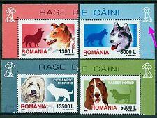 2001 Dogs,Husky,Shepherd,Basset,Collie,Hunde,Chiens,Cani,Romania,5574,TAB/W,MNH