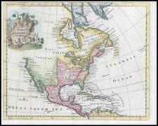 1764 - NORTH AMERICA Canada Mexico Florida California by Thomas Jefferys (KWM12)