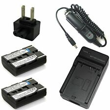 Charger + 2x Li-ion Battery Pack for Samsung VP-D340 VP-D380 VP-D530 VP-D590 i