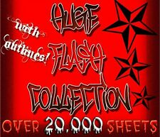 "TATTOO FLASH ""HUGE FLASH COLLECTION"" OVER 20,000 SHEETS"