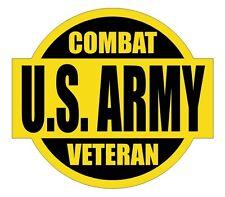 US Army Combat Veteran Hard Hat Decal / Label / Motorcycle Helmet Sticker / USA