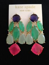 STUNNING! Kate Spade Multicolored Crystal Statement Chandelier Earrings *NEW*