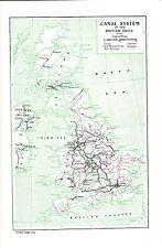 Sistema di canale delle isole britanniche. i tappi e Cappello informativo BIADESIVO stampa c1940