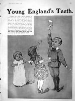 Old Antique Print 1904 Advertisement Young English Teeth Odol Toothpaste 20th